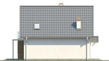 Проект мансардного котеджу з кухнею на південній стороні