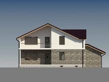 Проект котеджу з гаражем і додатковою кімнатою на першому поверсі