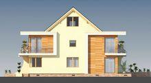 Проект оригінального будинку з мансардою і горищним приміщенням