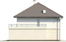 Проект котеджу з терасою над гаражем