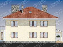 Двоповерхова заміська вілла з чотирискатним дахом