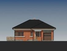 Проект будинку з цегляним фасадом і сауною