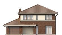 Проект 2-х поверхового котеджу з боковим гаражем