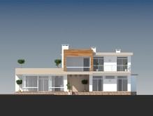 Сучасний двоповерховий котедж з балконами