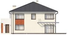 Проект двоповерхового котеджу з еркером над гаражем