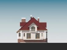 Класичний особняк з мансардою і фронтальним гаражем