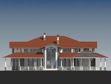 Проект представницького будинку в американському стилі з гаражем в цоколі