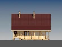 Будинок з мансардою в стилі шале в каркасному виконанні