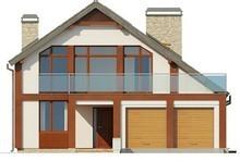 Проект просторого будинку з терасою над гаражем