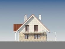 Проект затишного будинку з мансардним поверхом та з просторою терасою