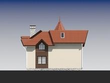 Проект двоповерхового котеджу з кутовим входом