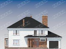 Класичний просторий двоповерховий будинок