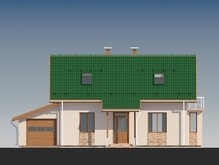 Проект каркасного будинку з гаражем