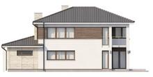 Готовий проект двоповерхового будинку з гаражем