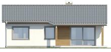 Проект котеджу з двосхилим дахом