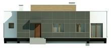Одноповерховий будинок у сучасному стилі зі світлою вітальнею
