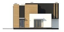 Стильний двоповерховий будинок оригінальної форми з двома вітальнями