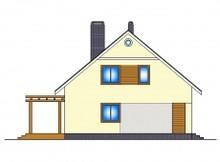 Проект 1,5-поверхового котеджу з додатковою спальнею на першому поверсі