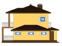 Проект заміського котеджу з гаражем
