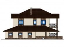Сучасний проект просторого будинку з підвалом