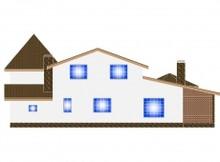 Заміський будинок з бібліотекою на другому поверсі