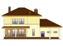 Проект котеджу з сауною на другому поверсі