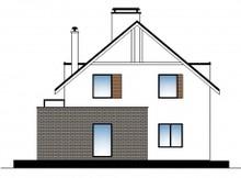 Будинок з мансардою з сучасними елементами на фасаді