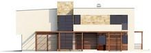 Проект двоповерхового будинку модерн з гаражем для двох автомобілів
