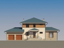 Проект житлового заміського будинку 220 m² з терасою