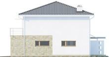 Проект двоповерхового будинку з гаражем для однієї машини