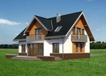 Симпатичний заміський будиночок з панорамними вікнами та виходом на терасу