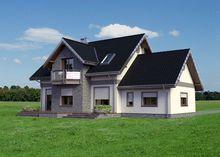 Проект оригінального котеджу з площею 190 m²