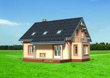 Приємного вигляду житловий будинок на два поверхи