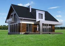 Сучасна розкішна двоповерхова будівля з цокольним поверхом