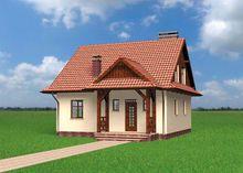 Неймовірний проект заміського будинку з площею 110 m²