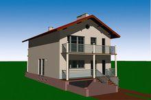 Зручний будинок з балконами та виходом у сад