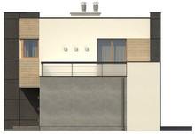 Проект просторого двоповерхового будинку з гаражем і плоским дахом
