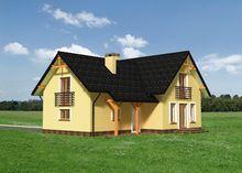 Проект невеликого котеджу з чотирма спальнями