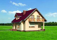 Компактний котедж з балконом і терасою