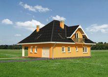 Затишний заміський будинок з мансардним поверхом та великою вітальнею