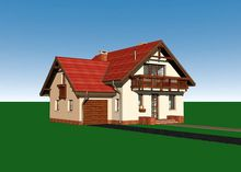 Стильний заміський дім з заскленою верандою