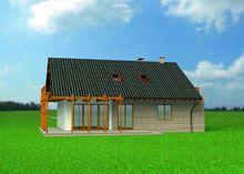 Стильна заміська садиба з величезною дерев'яною терасою та балконом