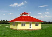 Примітний проект будиночка в псевдокитайському стилі
