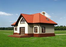 Привабливий проект будинку з мансардою та гаражем