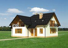 Проект будинку Г-подібної форми з мансардою