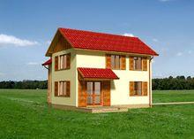 Житловий будинок незвичайної планування площею 110 квадратів