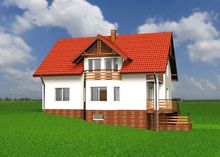 Гарний житловий будинок, виконаний в декількох рівнях