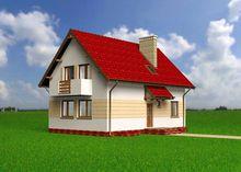 Красива заміське будова з цокольним поверхом