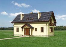 Симетричний симпатичний будинок на 2 поверхи