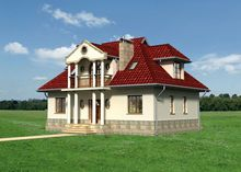 Помпезна житлова будова на два поверхи